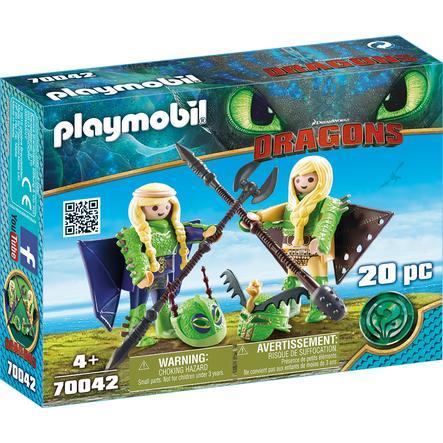 PLAYMOBIL DRAGONS Raffnuss og Taffnuss i flydragt 70042