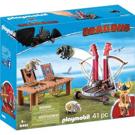 PLAYMOBIL DRAGONS Grobian s ovčím šmýkadlem 9461