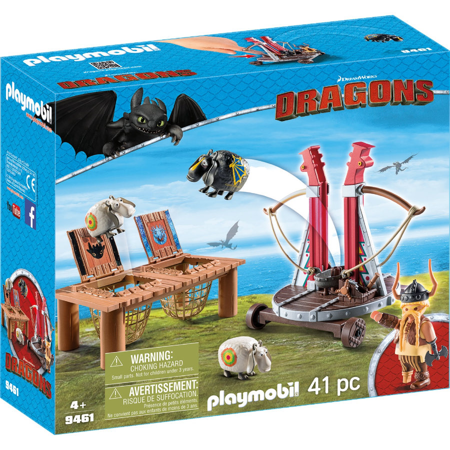 PLAYMOBIL® DRAGONS Rochel met schapenslingeraar 9461
