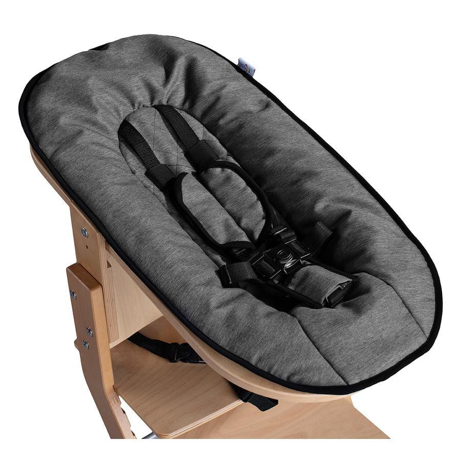tiSsi® Leżaczek na krzesło do karmienia tiSsi nature - antracyt