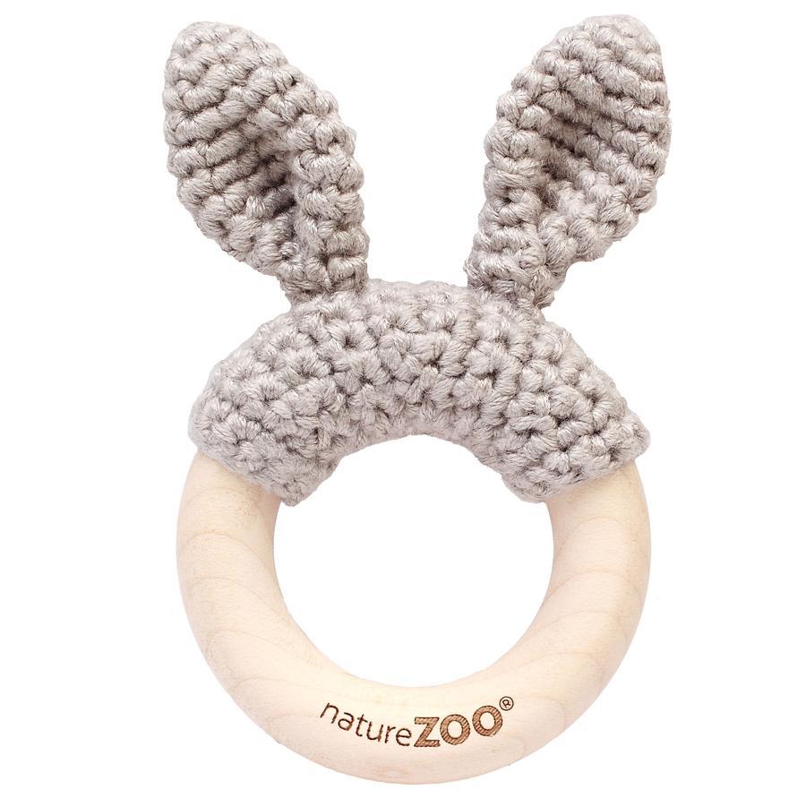 """nature Zoo of Denmark """"Teething ring, grey"""""""