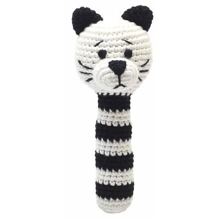 natureZoo of Denmark »gehäkelte Rassel Katze, schwarz/weiß«