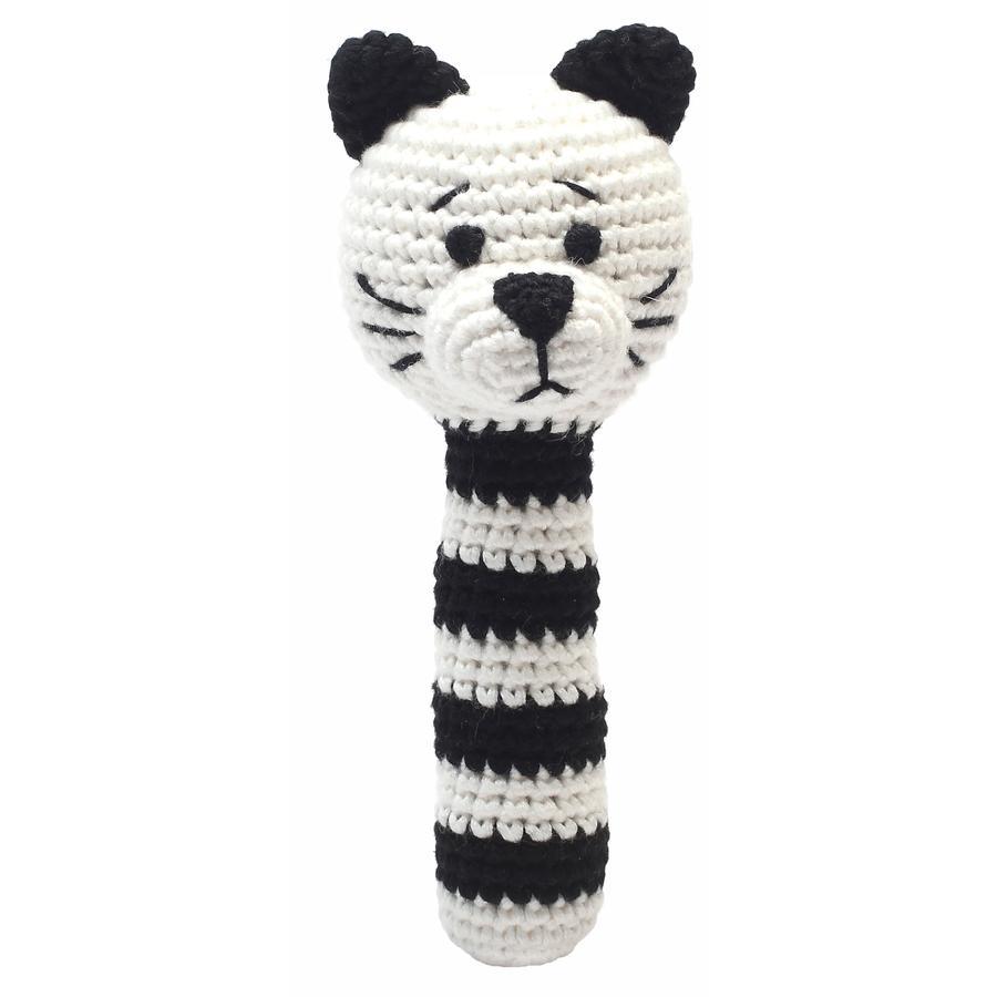 natureZoo of Denmark Hochet à crochet chat noir/blanc