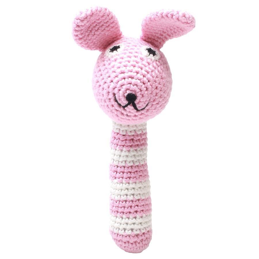 """nature Zoo of Denmark  """"Conejo de cascabel a crochet, rosa"""""""
