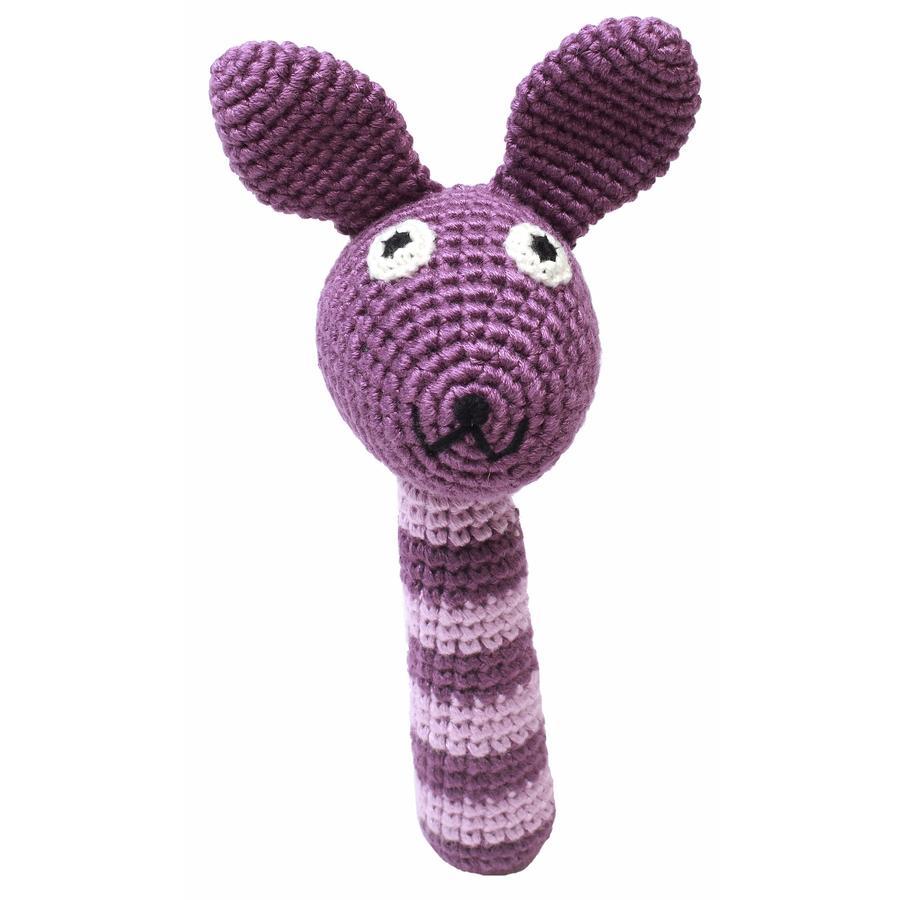 natureZoo of Denmark Hochet à crochet lapin violet