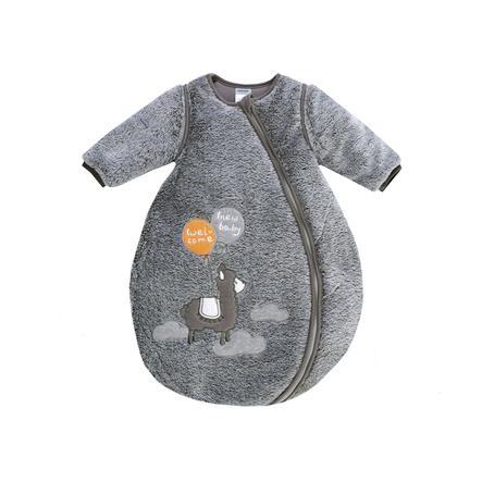 JACKY Lama sovepose polstret gråmelange med avtagbare ermer