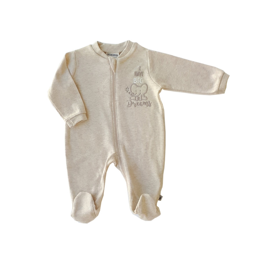 JACKY Pyjama enfant 1 pièce Organic Cotton mélange beige