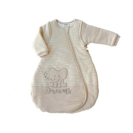 JACKY Schlafsack mit abnehmbaren Ärmeln Organic Cotton beige-melange