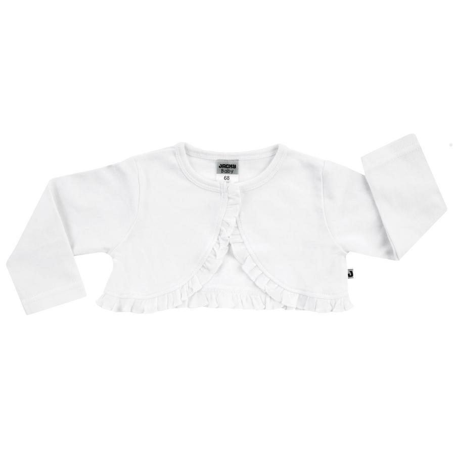 JACKY Body skjorta kort ärm med avtagbar fluga vit / marin
