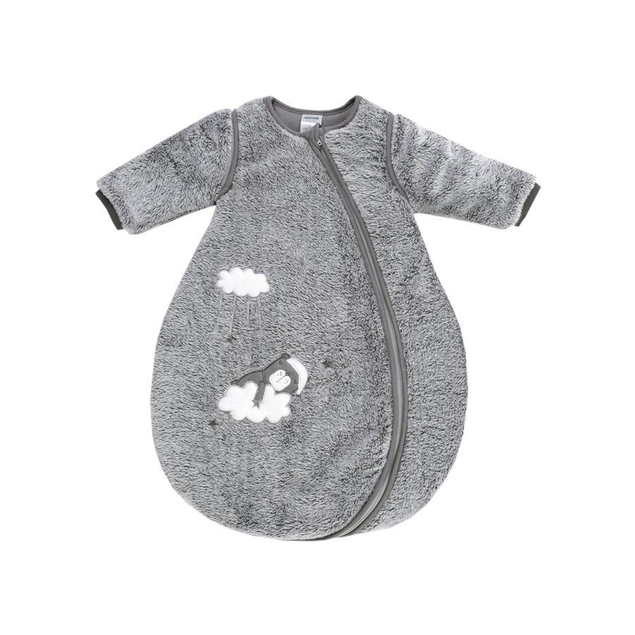 JACKY Dream er sovsäck vadderad med avtagbara ärmar grå-melange