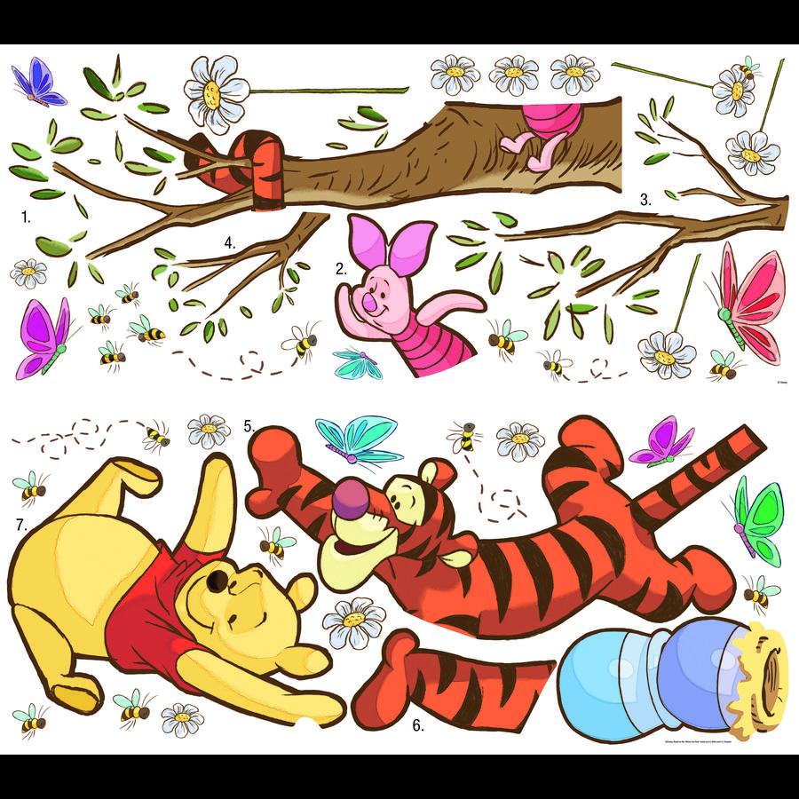 RoomMates veggklistremerke - DISNEY Winnie Pooh fanger honningen
