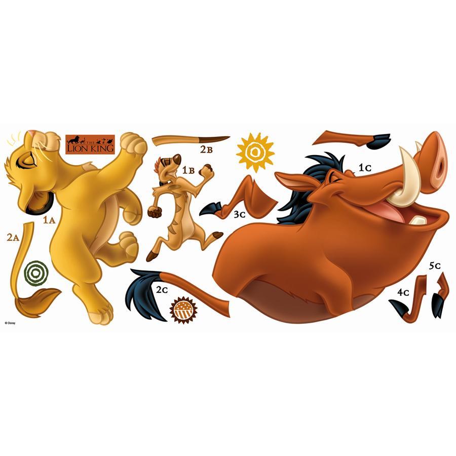 RoomMates ® Pegatinas de pared - Rey de los leones Simba, Pumbaa, Timón