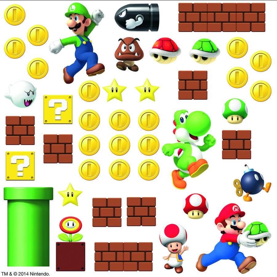 RoomMates veggklistremerke - Super Mario Scene