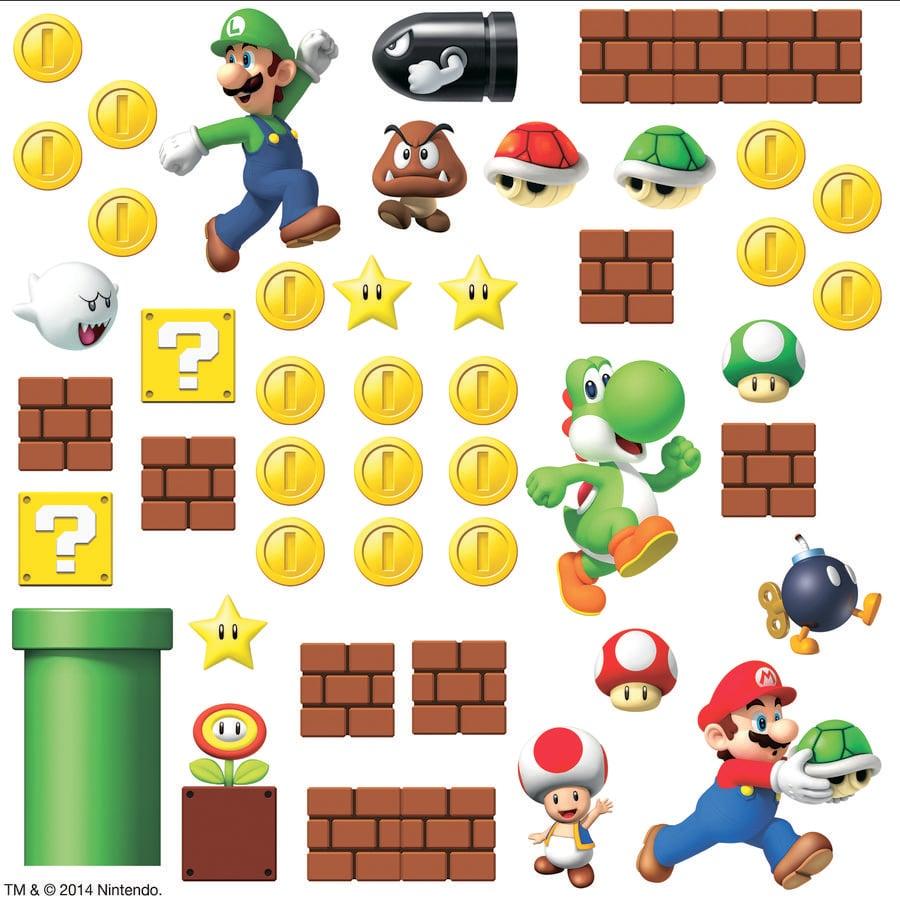 RoomMates® Wandsticker - Super Mario Szene