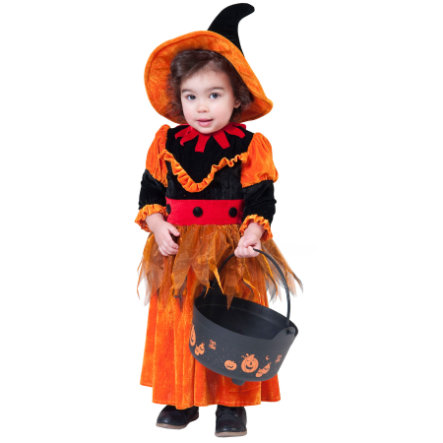 FUNNY FASHION Costume Witch, orange
