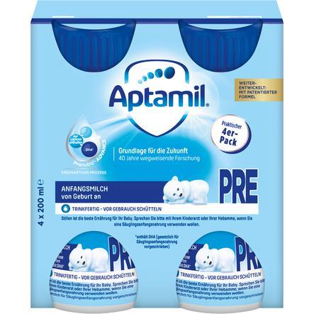 Aptamil Anfangsmilch Pronutra Advance Pre 4 x 200ml trinkfertig ab der Geburt