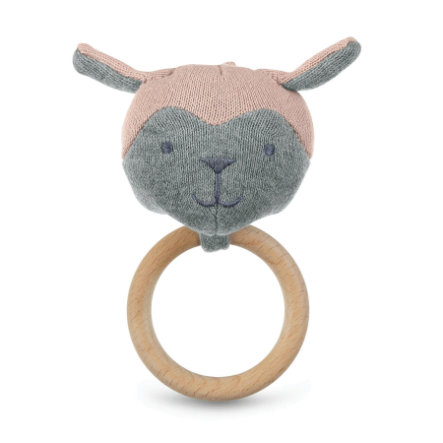 Sterntaler Figurka zabawki z dzianiny z pierścieniem zaciskowym różowy