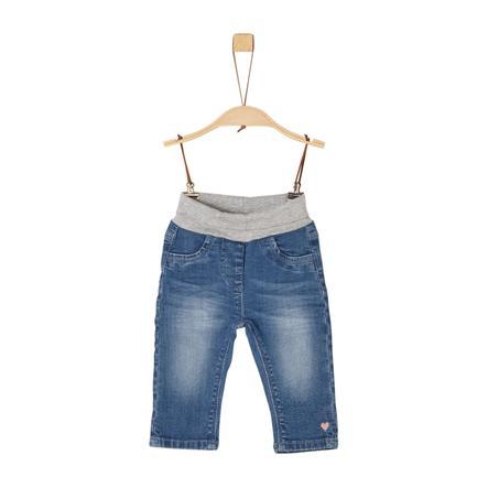 s. Olive r Girls Jeans bleu en denim stretch