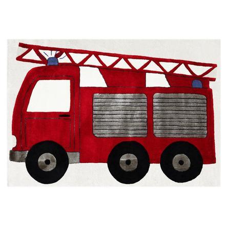 LIVONE Gulvtæppe Happy Rugs Brandbil, rød 120 x 180 cm