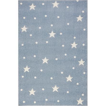 LIVONE Barnmatta Kids Love Rugs Heaven - blå/vit, 100 x 150 cm