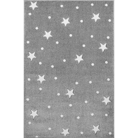 LIVONE leikki- ja lasten matto Lapset rakastavat matot Taivaan hopeanharmaa / valkoinen, 100 x 150 cm