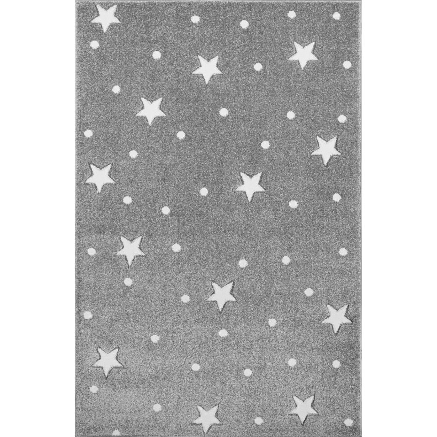LIVONE Tapis enfant Kids Love Rugs Heaven gris argenté/blanc 100x150 cm