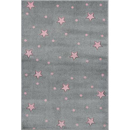 LIVONE lek og barneteppe Kids Love Rugs Heaven silver-grey / pink, 120 x 170 cm