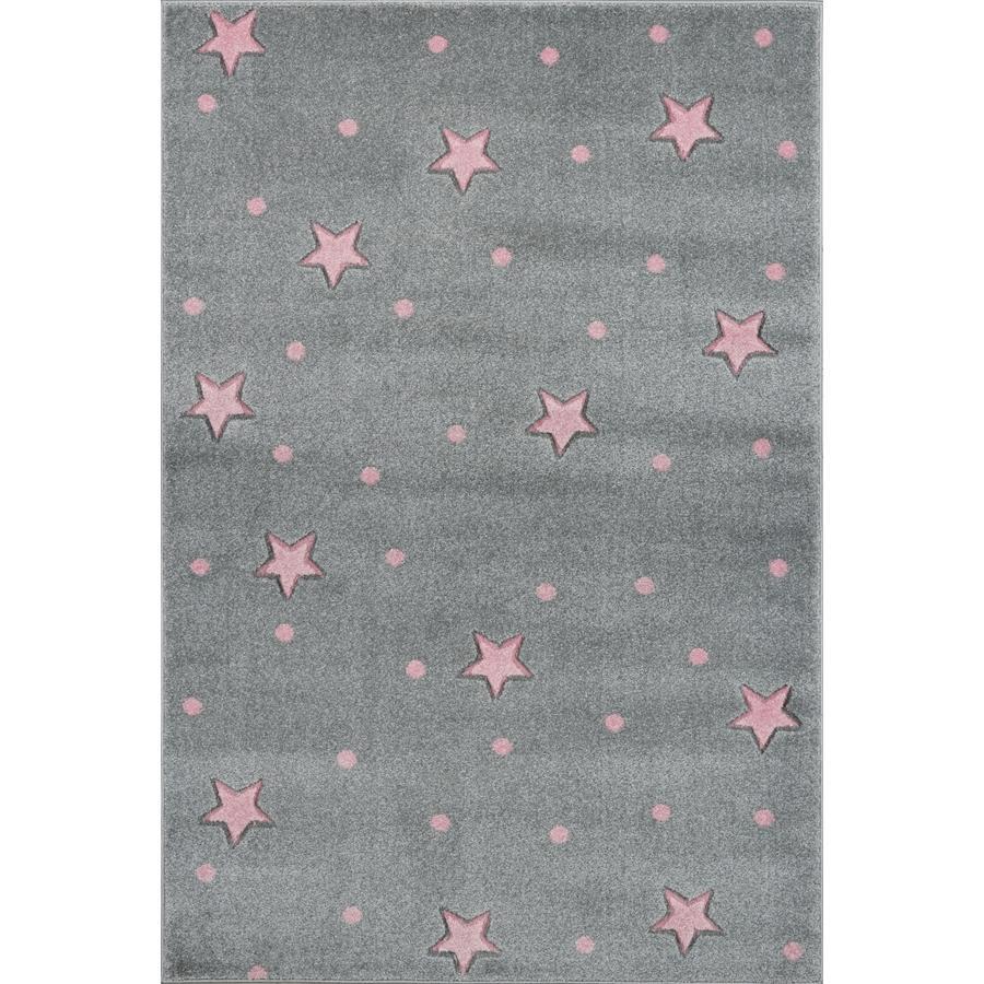 LIVONE Tapijt Kids Love Rugs Heaven zilvergrijs/roze 120 x 170 cm