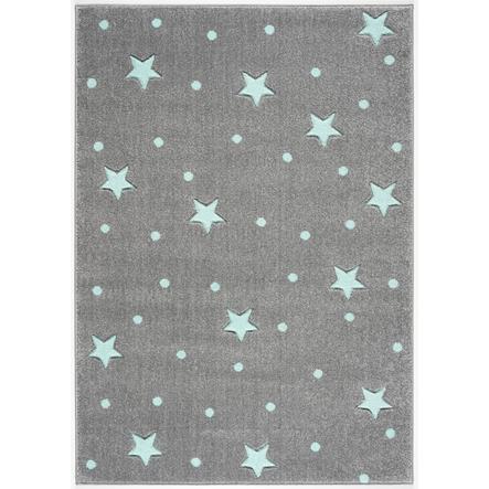 LIVONE leikki ja lasten matto Lasten rakkausmatot hopea taivaanharmaa / minttu, 120 x 170 cm
