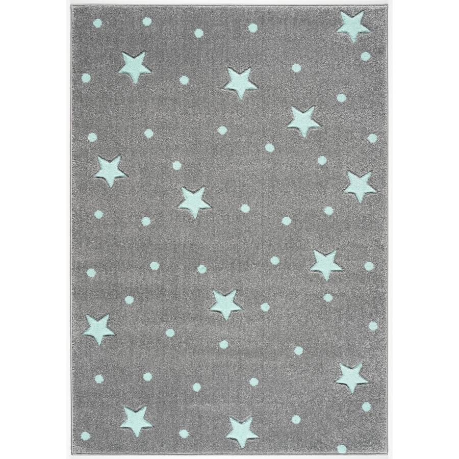 LIVONE Tapis enfant Kids Love Rugs Heaven gris argenté/menthe 160x220 cm