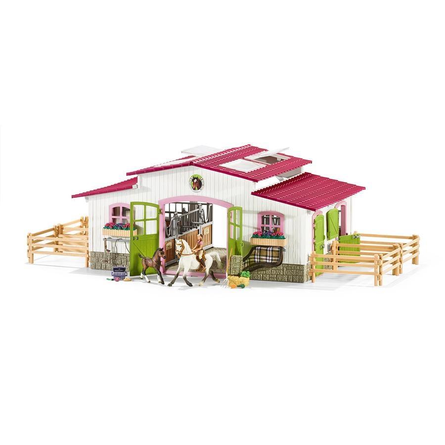 Schleich Figurine centre équestre avec cavalière, chevaux 42344