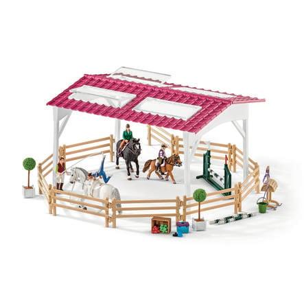 Schleich Figurine École d'équitation, cavalière et chevaux 42389
