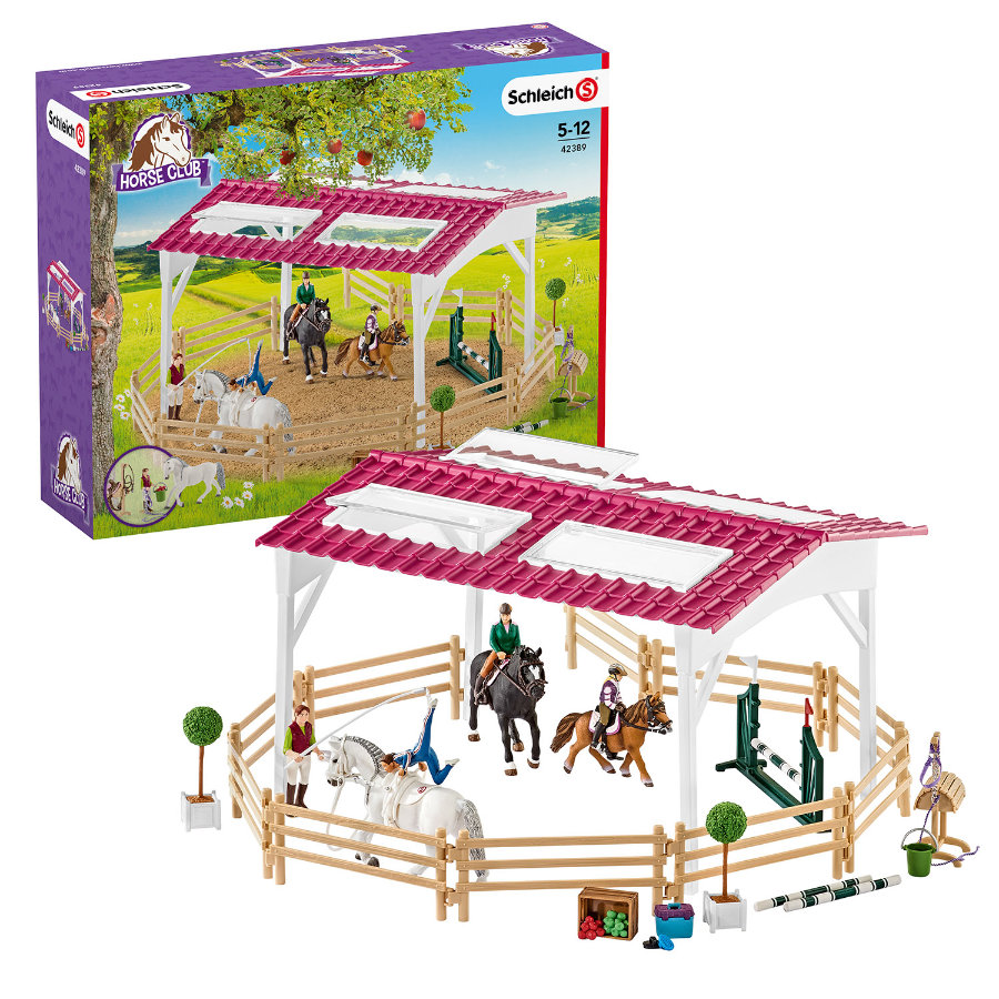 SCHLEICH Ratsastuskoulu, ratsastajat ja hevoset 42389