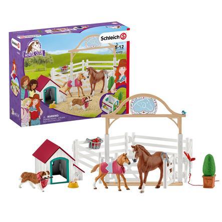SCHLEICH Horse Clubin Hannahin hoitohevoset ja Ruby-koira 42458