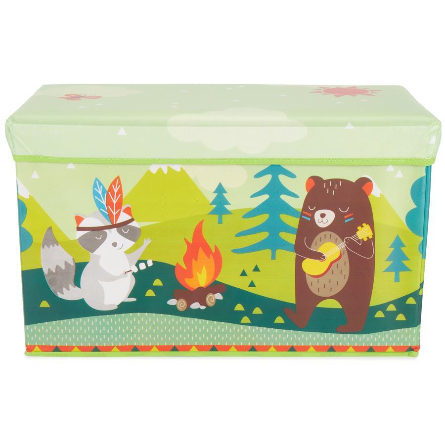 bieco Coffre à jouets animaux de forêt