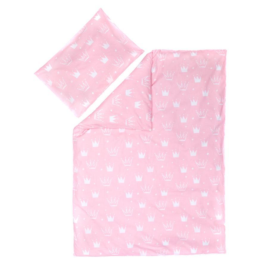 fillikid  Ropa de cama crown rosa 100 x 135 cm