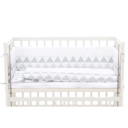 fillikid Bettwäscheset komplett für Cocon Dreiecke grau/weiß