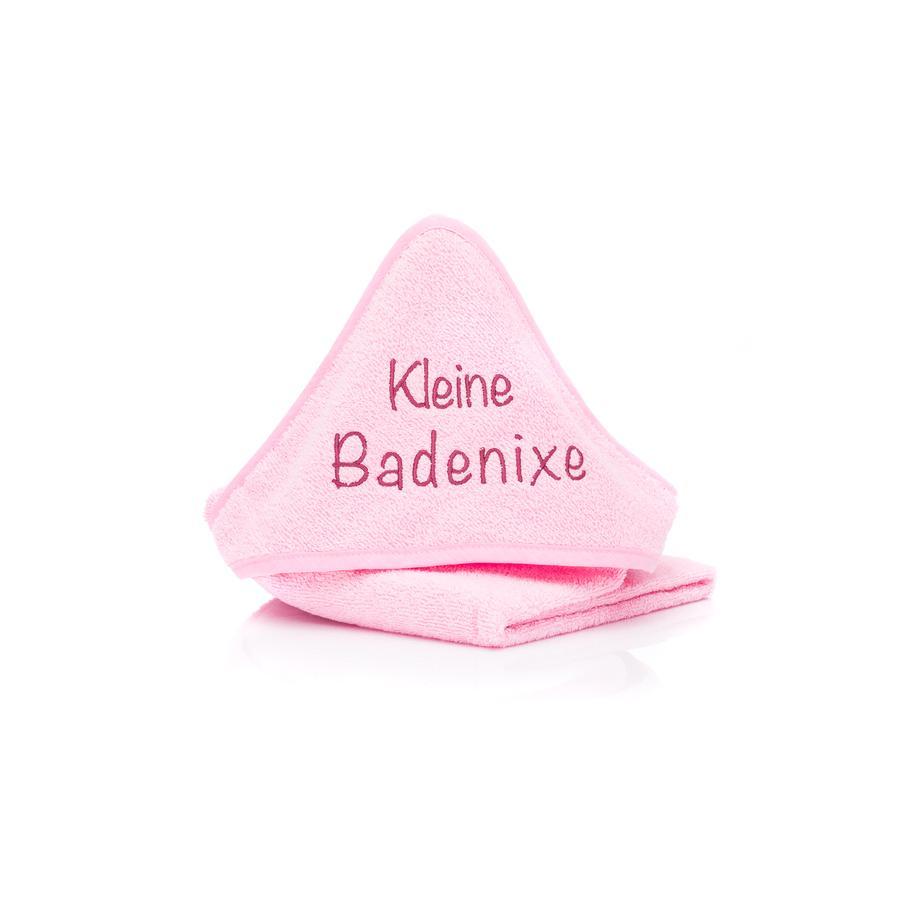 fillikid Cape de bain enfant petite sirène rose 75x75 cm