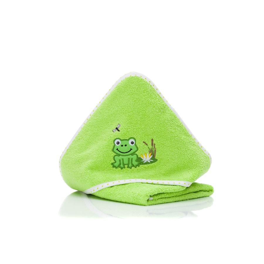 fillikid Koupelová žába s kapucí zelená 75x75 cm