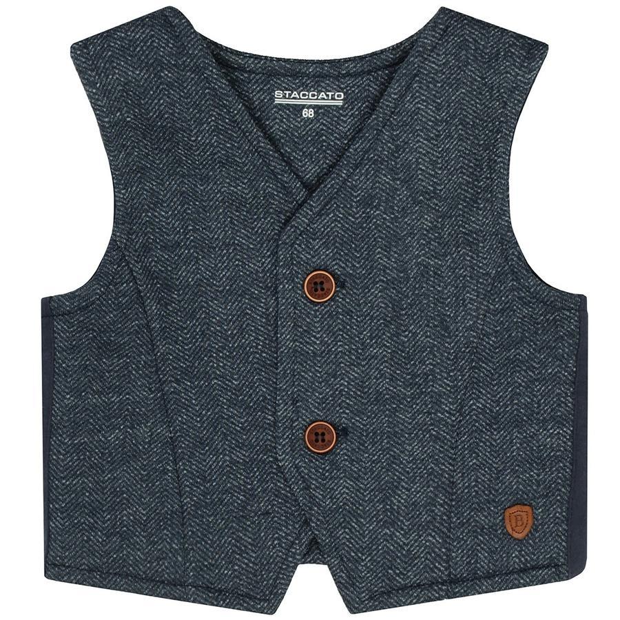 STACCATO  Gilet garçon jeans foncé melange