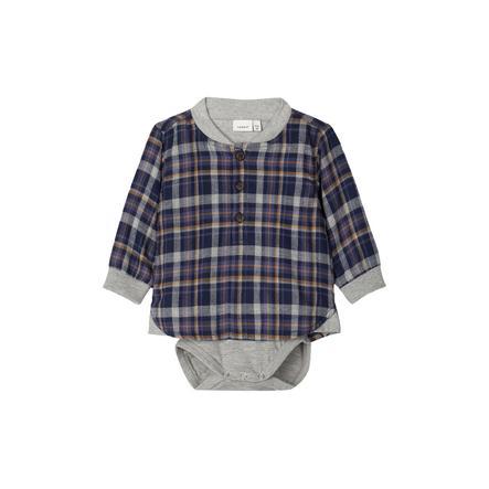 name it Boys Body Shirt NBMOJOHN zaffiro scuro zaffiro scuro