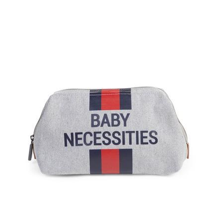 CHILDHOME Trousse de toilette enfant Baby Necessities rayures gris rouge/bleu