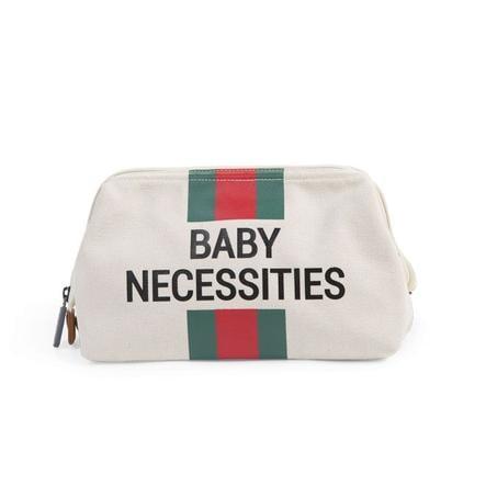 CHILDHOME Trousse de toilette enfant Baby Necessities rayures crème vert/rouge