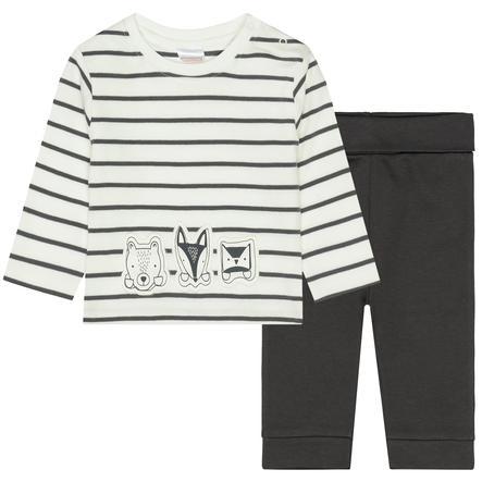 STACCATO  Pyjama 2 pcs off white + gris doux