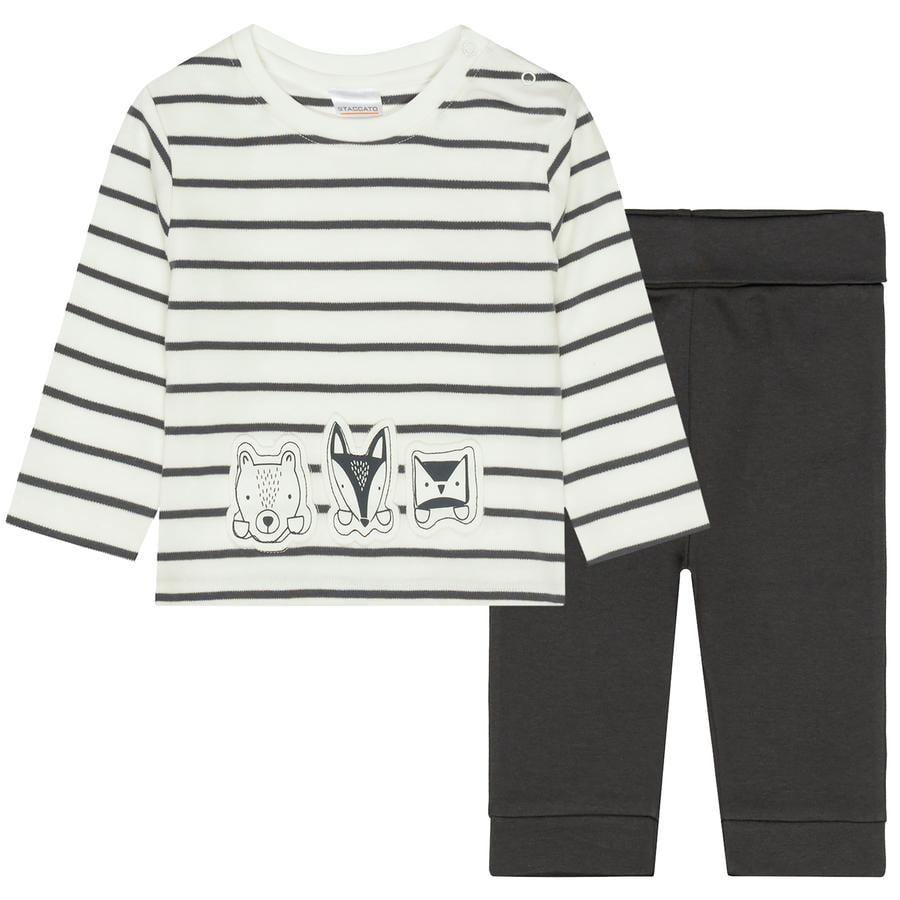 STACCATO Pyjama 2 tlg. offwhite+ soft grey