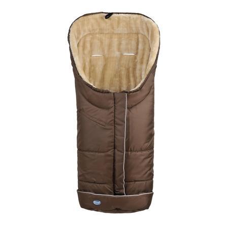 URRA Coprigambe a sacco invernale Deluxe con pelliccia grande mocca/beige