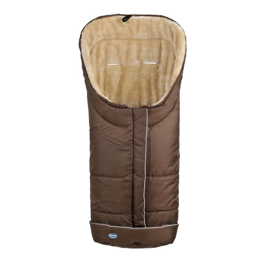 URRA Śpiworek na nóźki Deluxe z futerkiem duźy mocca/beźowy