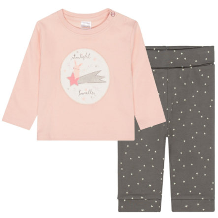 STACCATO Pyjama 2-teilig powder+soft grey gemustert