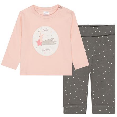 STACCATO Pyjama 2-teilig powder+soft grey gemustert