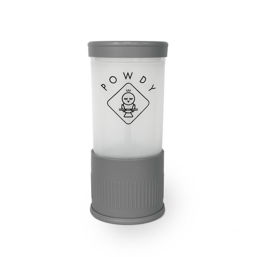 POWDY Boîte doseuse de lait en poudre PP, inserts interchangeables gris